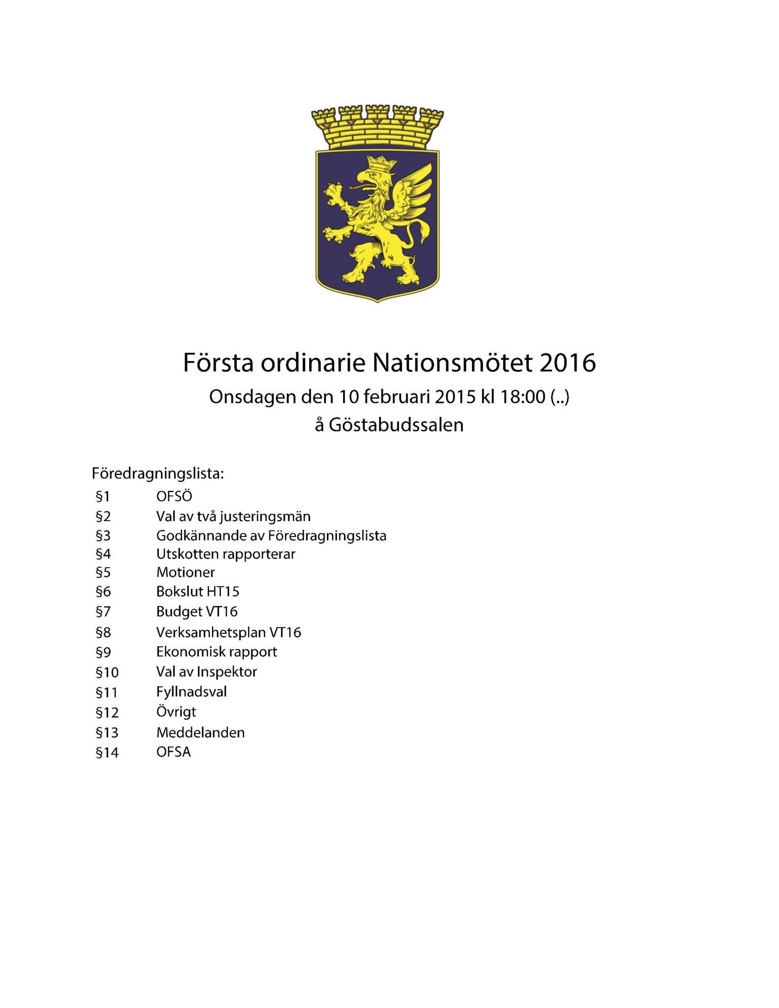 Dagordning 2016-02-10