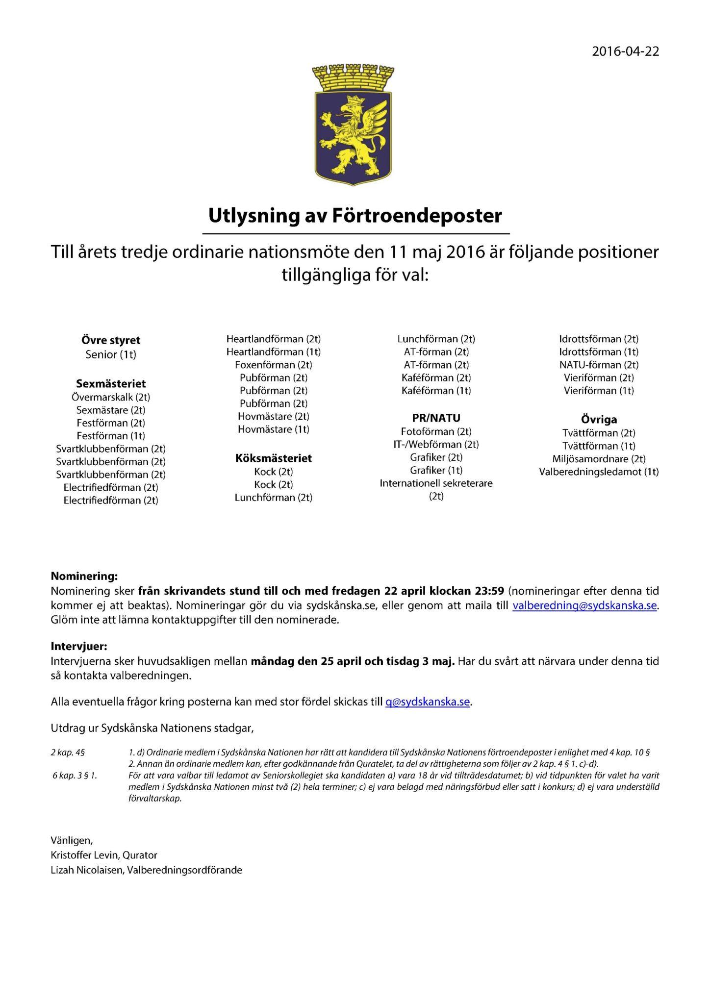 Utlysta poster 2016-05-11 uppdat