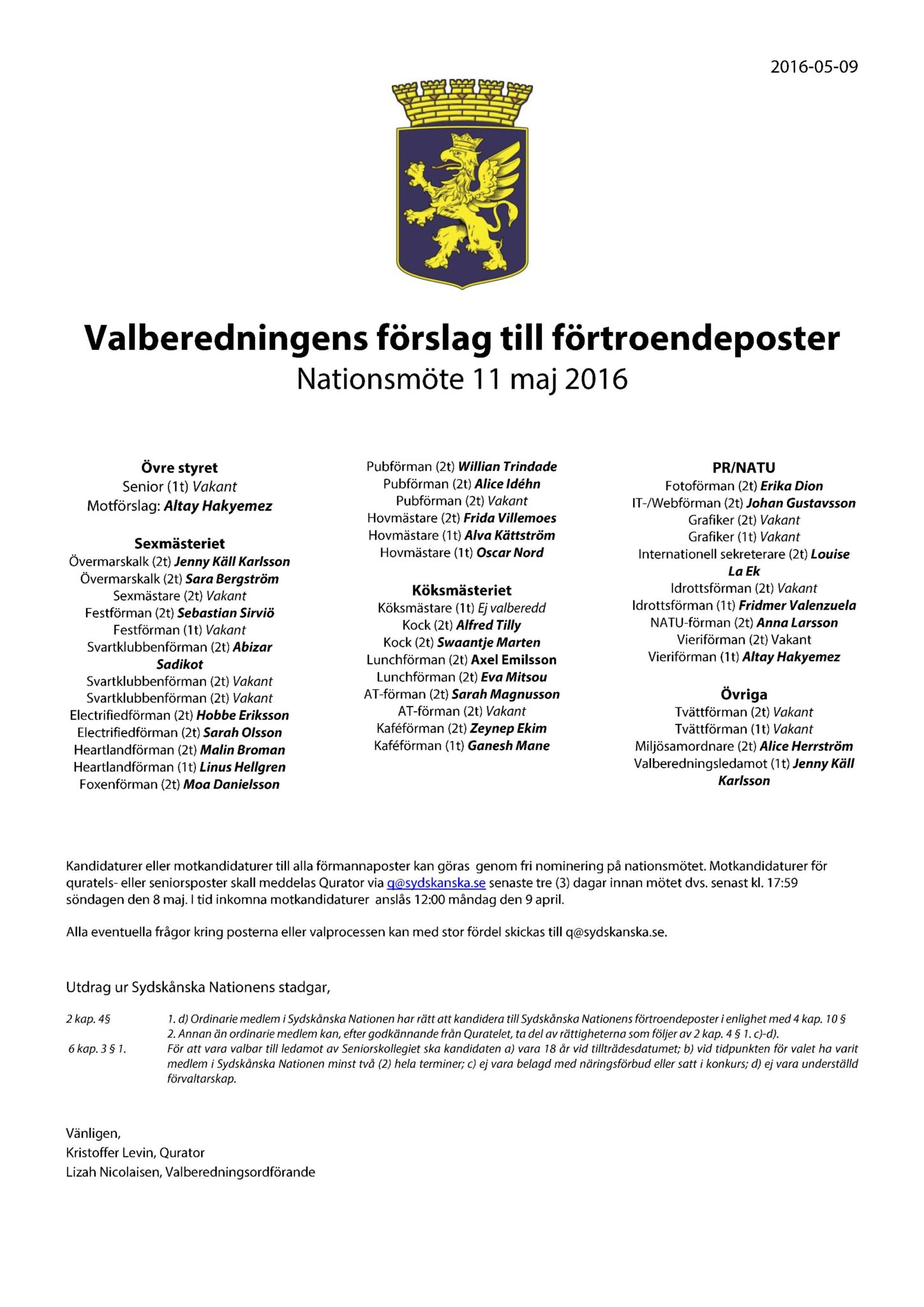Motkandidaturer 2016-05-11